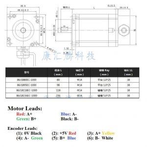 Bộ động cơ Hybrid Servo JMC 12Nm 86J18156EC-1000 và Driver 2HSS86H