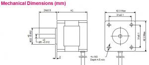 Động cơ bước NEMA 17 1.5A-42x48mm