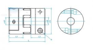 Khớp nối mềm SRJ30C - D30L42