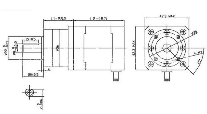 Động cơ bước giảm tốc NEMA 17 1.5A-42x48mm