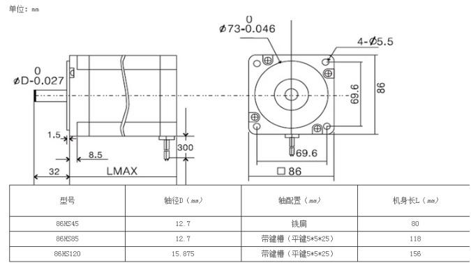 động cơ bước leadshine 86cm80